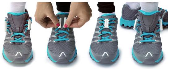 『Zubits』は、靴紐に装着すれば靴の脱ぎ履きが一瞬でできるようになるという磁石内蔵のアタッチメント。 靴ひもを毎回結びなおす必要も、絡まることも、ゆるんで