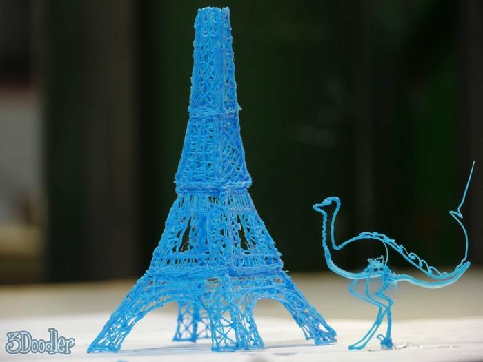 空間にオブジェクトを描く、ペン型の3Dプリンター『3Doodler』 価格は75ドル