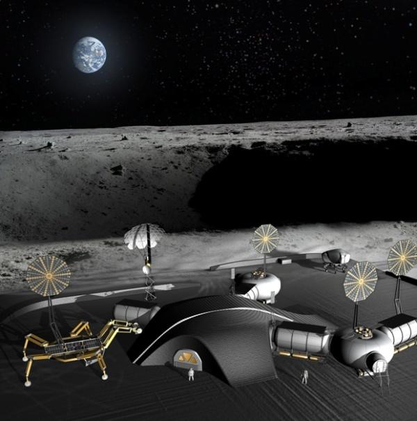 NASAが3Dプリンターによる月面宇宙基地『SinterHab』の建設計画を発表