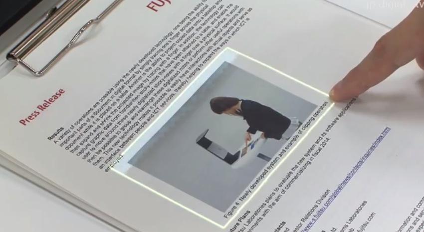 【世界を変える技術】ただの紙をタッチスクリーン化する技術を富士通が開発