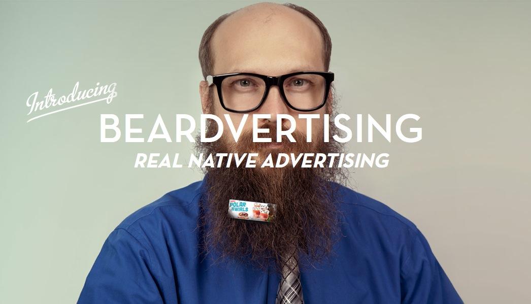 顔面広告、絶対領域広告、その次「ひげ広告」