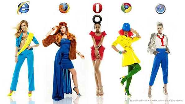 IE、FireFox、Chromeなどのブラウザをドレス化するとこうなる