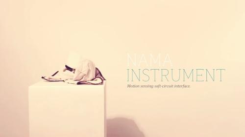 ただ振り回すだけ!LilyPad Arduinoで作る布状の楽器『NAMA』