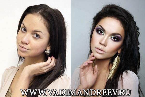 ロシアのメイクアップアーティスト、Vadim Andreev氏による驚きの化粧テクが動画で紹介され、海外で話題となっているようです。