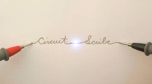 匂いも無く速乾性!紙の上に電子回路を書けるペン『Circuit Scribe』